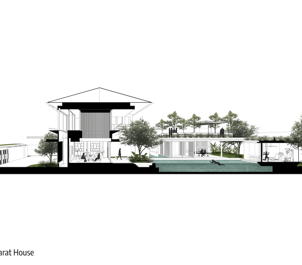 Perspective Section Pejaten Barat House 12.10.2020